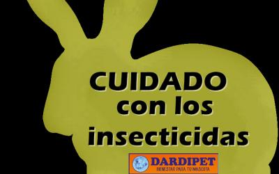 ¡Cuidado con los insecticidas y los animales!